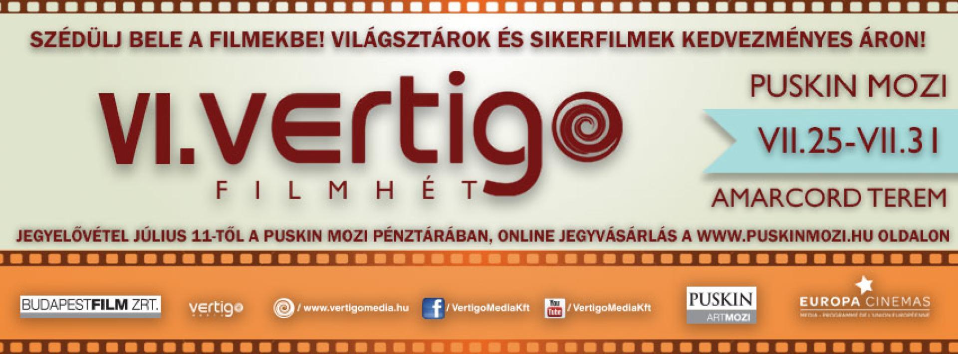 Szédülj bele a filmekbe: VI. Vertigo Filmhét ismét a közelmúlt sikerfilmjeivel
