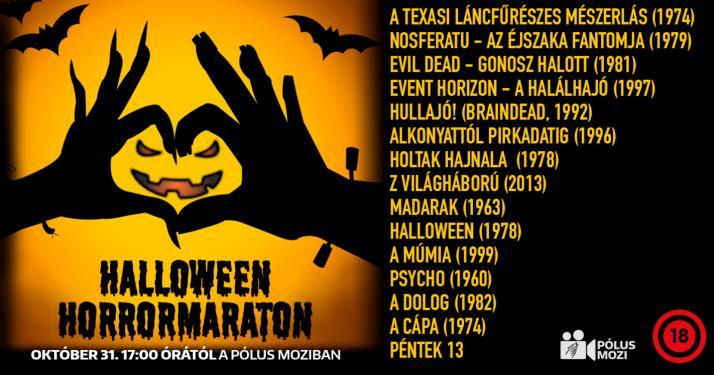 Horrormaraton Halloween éjszakáján a Pólus Moziban - Hullajó